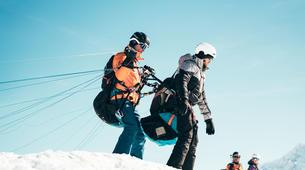 Paragliding-La Plagne, Paradiski-Tandem paragliding in La Plagne, Alps-9