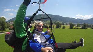 Paragliding-Villach-Tandem paragliding flight in Gerlitzen, at Lake Ossiach-4