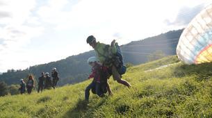 Paragliding-La Plagne, Paradiski-Tandem paragliding in La Plagne, Alps-5