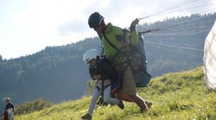 Paragliding-La Plagne, Paradiski-Tandem paragliding in La Plagne, Alps-14