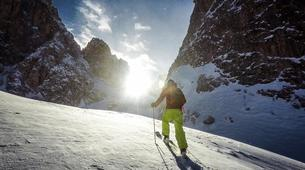 Ski touring-Cortina d'Ampezzo-Sellaronda Ski Tour in the Dolomites near Cortina d'Ampezzo-1