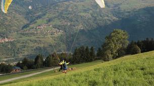 Paragliding-La Plagne, Paradiski-Tandem paragliding in La Plagne, Alps-12