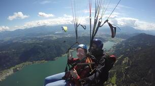 Paragliding-Villach-Tandem paragliding flight in Gerlitzen, at Lake Ossiach-2