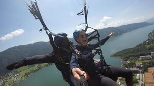 Paragliding-Villach-Tandem paragliding flight in Gerlitzen, at Lake Ossiach-3