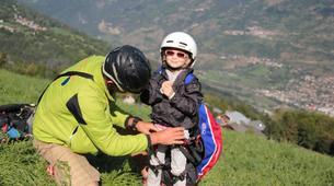 Paragliding-La Plagne, Paradiski-Tandem paragliding in La Plagne, Alps-17