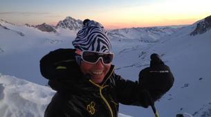 Ski touring-Lake Garda-Sunset Ski Mountaineering on Mount Baldo near Lake Garda-2