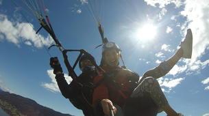 Paragliding-Villach-Tandem paragliding flight in Gerlitzen, at Lake Ossiach-1