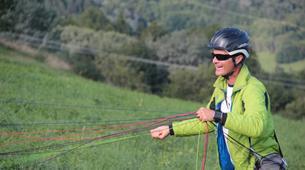 Paragliding-La Plagne, Paradiski-Tandem paragliding in La Plagne, Alps-16