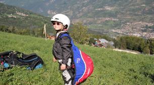 Paragliding-La Plagne, Paradiski-Tandem paragliding in La Plagne, Alps-20