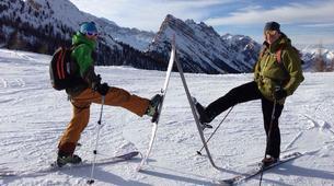 Ski touring-Cortina d'Ampezzo-Sellaronda Ski Tour in the Dolomites near Cortina d'Ampezzo-2