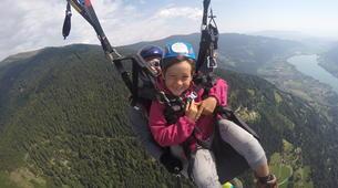 Paragliding-Villach-Tandem paragliding flight in Gerlitzen, at Lake Ossiach-5