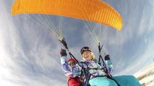 Paragliding-Alpe d'Huez Grand Domaine-Tandem paragliding flight in Alpe d'Huez-5