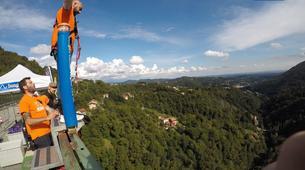 Saut à l'élastique-Milan-Bungee jumping from The Colossus bridge (152m) in Veglio Mosso, near Biella-5