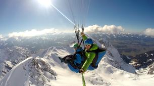Paragliding-Oberstdorf-Winter tandem paragliding from the Nebelhorn, Oberstdorf-1
