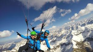 Paragliding-Oberstdorf-Winter tandem paragliding from the Nebelhorn, Oberstdorf-5
