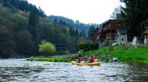 Kayaking-Prague-Canoeing on the river Sázava near Prague-3