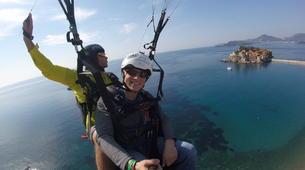 Paragliding-Budva-Tandem paragliding flight in St Stefan, Montenegro-5