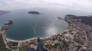 Paragliding-Budva-Tandem paragliding flight over the Old Town of Budva, Montenegro-6