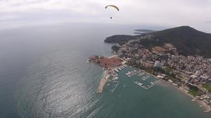 Paragliding-Budva-Tandem paragliding flight over the Old Town of Budva, Montenegro-3