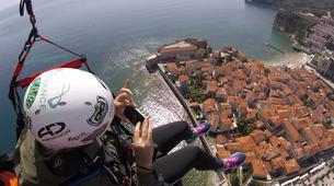 Paragliding-Budva-Tandem paragliding flight over the Old Town of Budva, Montenegro-4