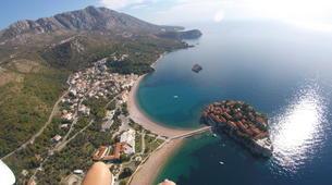 Paragliding-Budva-Tandem paragliding flight in St Stefan, Montenegro-4