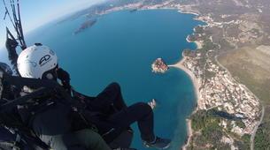 Paragliding-Budva-Tandem paragliding flight in St Stefan, Montenegro-3