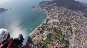 Paragliding-Budva-Tandem paragliding flight over the Old Town of Budva, Montenegro-2
