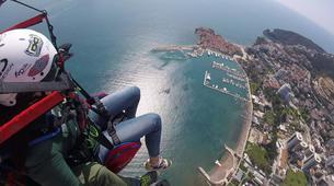 Paragliding-Budva-Tandem paragliding flight over the Old Town of Budva, Montenegro-5