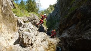 Canyoning-Salzbourg-Canyoning in the Strubklamm gorge near Salzburg, Austria-6