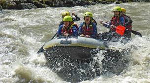 Rafting-Salzbourg-Action Rafting on the river Salzach in Schwarzach near Salzburg, Austria-3