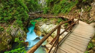 Mountain bike-Bled-E-bike trip in Vintgar Gorge and Lake Bled, Slovenia-1