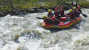 Rafting-Salzbourg-Action Rafting on the river Salzach in Schwarzach near Salzburg, Austria-2