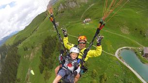Parapente-Zermatt-Tandem paragliding flight in Zermatt with a Matterhorn view-6