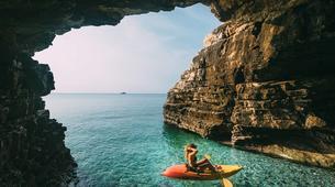 Kayak de mer-Kamenjak-Sea kayaking adventure through the caves of Cape Kamenjak, Croatia-2