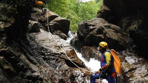 Canyoning-Alagna Valsesia-Intermediate Canyoning in Rio Laghetto Canyon near Alagna Valsesia, Aosta Valley-5