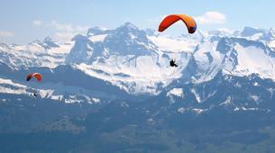 Parapente-Zermatt-Tandem paragliding flight in Zermatt with a Matterhorn view-1