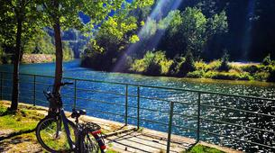 Mountain bike-Bled-E-bike trip in Vintgar Gorge and Lake Bled, Slovenia-5