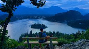 Mountain bike-Bled-E-bike trip in Vintgar Gorge and Lake Bled, Slovenia-4