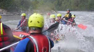 Rafting-Salzbourg-Action Rafting on the river Salzach in Schwarzach near Salzburg, Austria-5