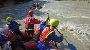 Rafting-Salzbourg-Fun Rafting on the river Salzach in Schwarzach near Salzburg, Austria-1