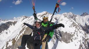 Parapente-Zermatt-Tandem paragliding flight in Zermatt with a Matterhorn view-3