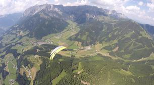 Parapente-Salzbourg-Tandem Paragliding flight over Werfenweng-1