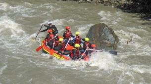 Rafting-Salzbourg-Action Rafting on the river Salzach in Schwarzach near Salzburg, Austria-1