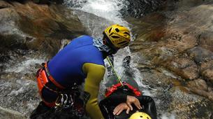 Canyoning-Alagna Valsesia-Intermediate Canyoning in Rio Laghetto Canyon near Alagna Valsesia, Aosta Valley-4