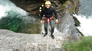 Canyoning-Alagna Valsesia-Intermediate Canyoning in Rio Laghetto Canyon near Alagna Valsesia, Aosta Valley-1