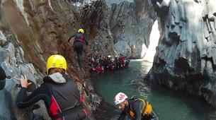 Canyoning-Riserva Naturale Orientata Bosco di Malabotta-Body rafting in the Alcantara Gorges, Sicily-2