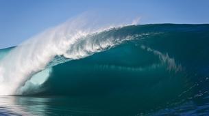 Surf-Tahiti-Observation en bateau de la vague de Teahupoo à Tahiti-1