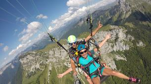Paragliding-Annecy-Tandem paragliding flight over Annecy Lake-1