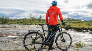 Mountain bike-Alta-E-Bike Excursion in Alta Canyon-3