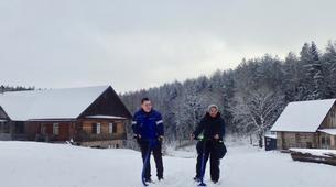 Snowshoeing-Trakai-Kicksledding Excursion in Trakai National Park-1